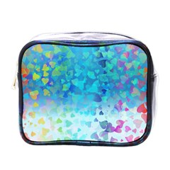 Hearts Colors Mini Toiletries Bag (one Side)
