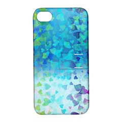 Hearts Colors Apple Iphone 4/4s Hardshell Case With Stand