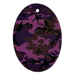 Camouflage Violet Ornament (oval)