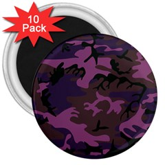 Camouflage Violet 3  Magnets (10 Pack)  by snowwhitegirl