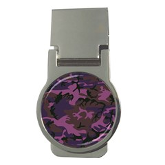 Camouflage Violet Money Clips (round)  by snowwhitegirl
