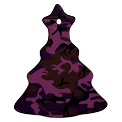 Camouflage Violet Ornament (christmas Tree)  by snowwhitegirl