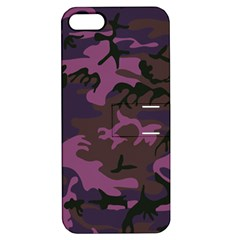 Camouflage Violet Apple Iphone 5 Hardshell Case With Stand by snowwhitegirl