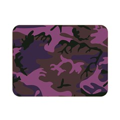 Camouflage Violet Double Sided Flano Blanket (mini)  by snowwhitegirl