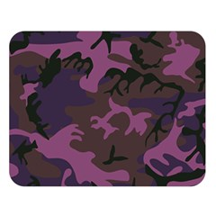Camouflage Violet Double Sided Flano Blanket (large)  by snowwhitegirl