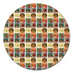 Victorian Fruit Labels Magnet 5  (Round) Front