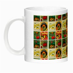 Victorian Fruit Labels Night Luminous Mugs by snowwhitegirl