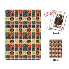 Victorian Fruit Labels Playing Cards Single Design
