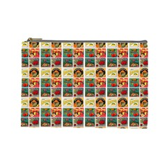 Victorian Fruit Labels Cosmetic Bag (large)