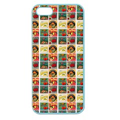 Victorian Fruit Labels Apple Seamless Iphone 5 Case (color)