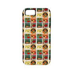 Victorian Fruit Labels Apple Iphone 5 Classic Hardshell Case (pc+silicone)