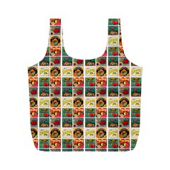 Victorian Fruit Labels Full Print Recycle Bag (m)