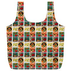Victorian Fruit Labels Full Print Recycle Bag (xl)
