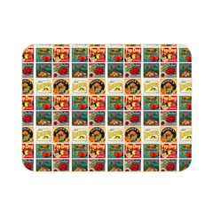 Victorian Fruit Labels Double Sided Flano Blanket (mini)