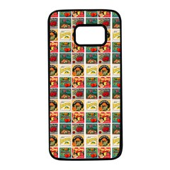 Victorian Fruit Labels Samsung Galaxy S7 Black Seamless Case