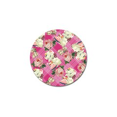 Retro Pets Plaid Pink Golf Ball Marker (4 Pack)