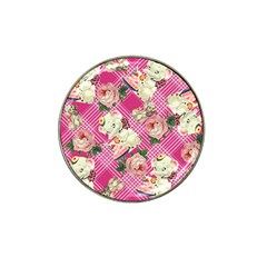 Retro Pets Plaid Pink Hat Clip Ball Marker
