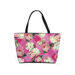 Retro Pets Plaid Pink Classic Shoulder Handbag