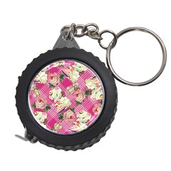 Retro Pets Plaid Pink Measuring Tape