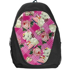 Retro Pets Plaid Pink Backpack Bag