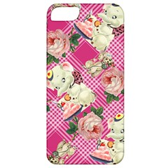 Retro Pets Plaid Pink Apple Iphone 5 Classic Hardshell Case