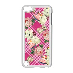 Retro Pets Plaid Pink Apple Ipod Touch 5 Case (white)