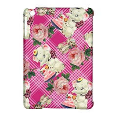 Retro Pets Plaid Pink Apple Ipad Mini Hardshell Case (compatible With Smart Cover)