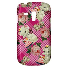 Retro Pets Plaid Pink Samsung Galaxy S3 Mini I8190 Hardshell Case
