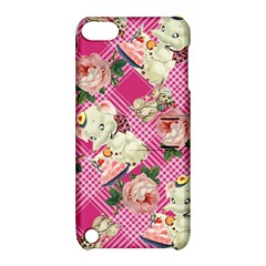 Retro Pets Plaid Pink Apple Ipod Touch 5 Hardshell Case With Stand