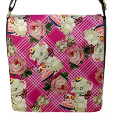Retro Pets Plaid Pink Flap Closure Messenger Bag (s)