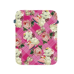 Retro Pets Plaid Pink Apple Ipad 2/3/4 Protective Soft Cases
