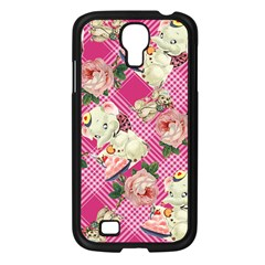 Retro Pets Plaid Pink Samsung Galaxy S4 I9500/ I9505 Case (black)