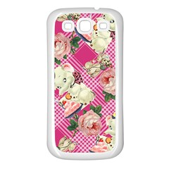 Retro Pets Plaid Pink Samsung Galaxy S3 Back Case (white)