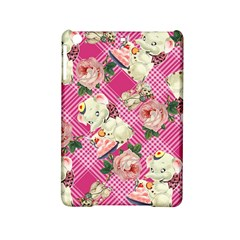Retro Pets Plaid Pink Ipad Mini 2 Hardshell Cases