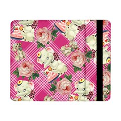 Retro Pets Plaid Pink Samsung Galaxy Tab Pro 8 4  Flip Case