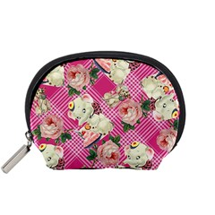 Retro Pets Plaid Pink Accessory Pouch (small)