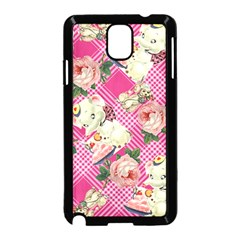 Retro Pets Plaid Pink Samsung Galaxy Note 3 Neo Hardshell Case (black)