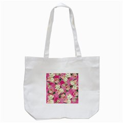 Retro Pets Plaid Pink Tote Bag (white)