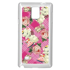 Retro Pets Plaid Pink Samsung Galaxy Note 4 Case (white)