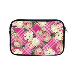 Retro Pets Plaid Pink Apple Macbook Pro 13  Zipper Case
