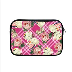 Retro Pets Plaid Pink Apple Macbook Pro 15  Zipper Case