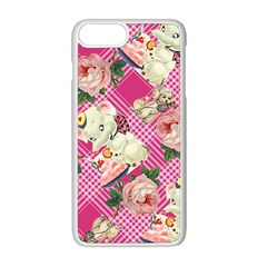Retro Pets Plaid Pink Apple Iphone 8 Plus Seamless Case (white)