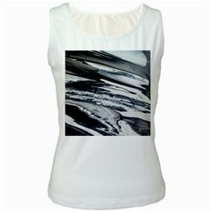 Space Orca Women s White Tank Top