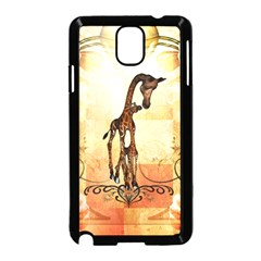 Cute Giraffe Mum With Funny Giraffe Baby Samsung Galaxy Note 3 Neo Hardshell Case (black) by FantasyWorld7