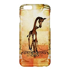 Cute Giraffe Mum With Funny Giraffe Baby Apple Iphone 6 Plus/6s Plus Hardshell Case by FantasyWorld7