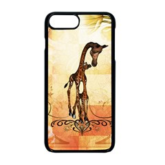 Cute Giraffe Mum With Funny Giraffe Baby Apple Iphone 8 Plus Seamless Case (black) by FantasyWorld7