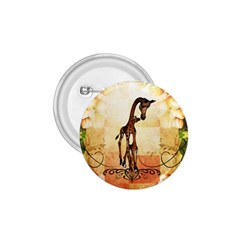 Cute Giraffe Mum With Funny Giraffe Baby 1 75  Buttons by FantasyWorld7