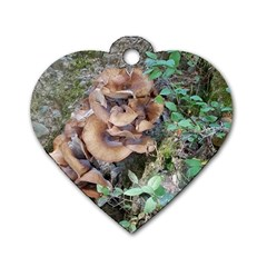 Abstract Of Mushroom Dog Tag Heart (two Sides) by canvasngiftshop