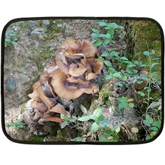 Abstract Of Mushroom Double Sided Fleece Blanket (mini)