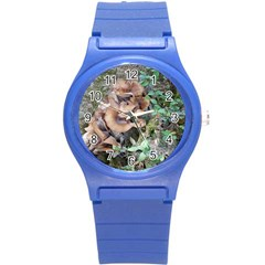 Abstract Of Mushroom Round Plastic Sport Watch (s) by canvasngiftshop